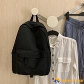 日韩後背包休閑簡約防水電腦包新款男女中學生書包帆布背包潮