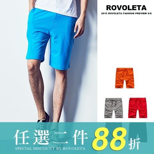 棉質休閒舒適短褲【TJ-D014】(ROVOLETA)