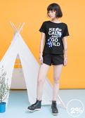 【2%】2% twopercent 英文標語T恤_黑/白