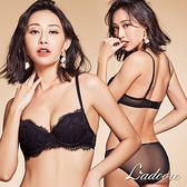 內衣 Ladoore 親吻香氛 法式薄墊EF罩杯成套內衣 (黑)