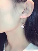 耳環精致潮超美鑲水鑽蝴蝶結氣質耳釘耳墜
