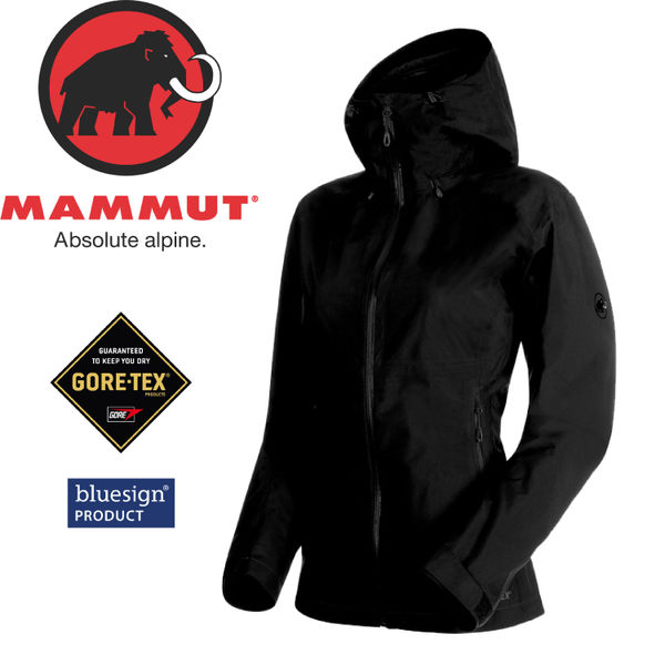 【MAMMUT Convey Tour HS Hooded Jacket 女《黑》】1010-26020-0001/長毛象/Gore-Tex /風雨衣/連帽防水★滿額送