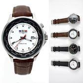 Valentino coupeau世界時區皮革錶NEV88