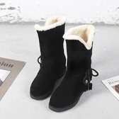 雪靴 雪地靴女冬季加絨加厚棉鞋女短筒學生短靴保暖馬丁靴韓版兩穿中筒 3色35-40