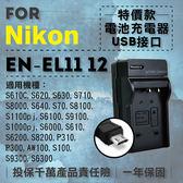 @攝彩@超值USB充 隨身充電器 for Nikon EN-EL12 行動電源 戶外充 體積小 一年保固