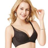 思薇爾-香縷系列B-E罩大美背蕾絲包覆內衣(黑色)