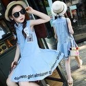 女童夏裝兒童牛仔裙大童背心裙夏季小女孩裙子 LQ6053『夢幻家居』