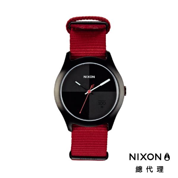 【官方旗艦店】NIXON QUAD 帆布錶帶 深紅X黑 潮人裝備 潮人態度 禮物首選