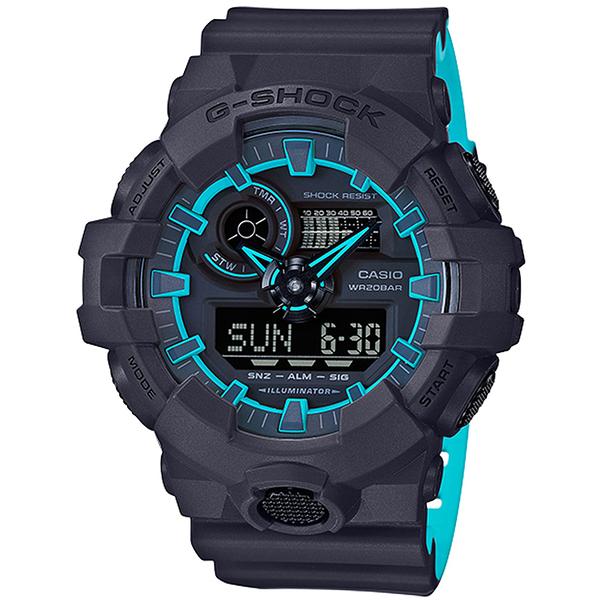 G-SHOCK Layered Neon Color螢光線條運動腕錶   GA-700SE-1A2