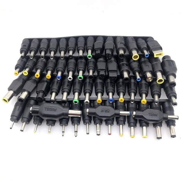 增強款萬用能電源轉接頭維修筆記本電源轉換頭60個DC電源頭適配器 果果輕時尚