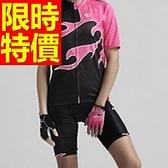 自行車衣 短袖 車褲套裝-透氣排汗吸濕暢銷別緻女單車服 56y12[時尚巴黎]