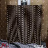 屏風隔斷客廳現代簡約 簡易折疊屏風玄關墻 中式實木移動酒店折屏定制QM『櫻花小屋』