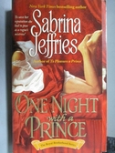 【書寶二手書T9/原文小說_OST】One Night with a Prince_Sabrina Jeffries