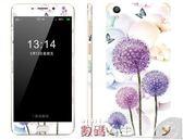 手機貼紙oppoR9蒲公英手機后全屏貼膜R9plus玫瑰花鋼化彩膜全包保護貼紙 數碼人生