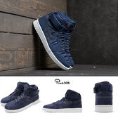 【海外限定】Nike Air Jordan 1 High Strap 藍 深藍 白 魔鬼氈 男鞋 喬丹1代【PUMP306】 342132-400