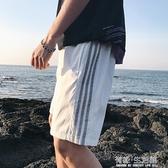 運動休閒短褲男ins速干跑步籃球褲夏季沙灘寬松五分外穿球褲 有緣生活館