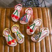【全館】現折200夏季新款正韓女童涼鞋小學生公主鞋寶寶鞋兒童鞋小蜜蜂沙灘鞋