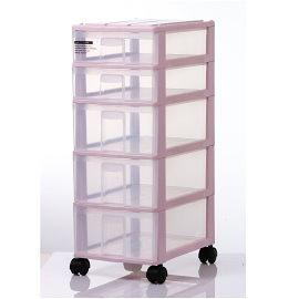 【時尚屋塑膠製品】 【DOLEDO】 檔案櫃~收納櫃~PA32蘋果置物盒2+3層附輪~1入(免運費)(台灣製)