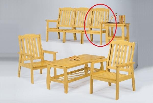 HY-614-3  本色單面實木單面右扶手椅-單張