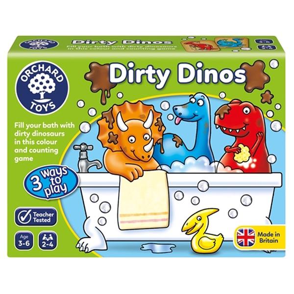 【英國 Orchard Toys】兒童桌遊-數學加減 恐龍洗澎澎 OT-051 Dirty Dinos