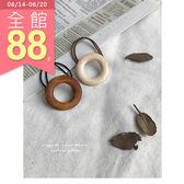 JoYcE ShOp.Fresh.韓.木紋質感髮圈-2系 杏.咖【100-10030182】