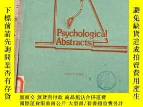 二手書博民逛書店Psychological罕見Abstracts.VOL.76.SUBJECT INDEX 1Y11418 P