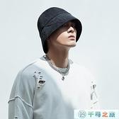 帽子男士漁夫帽秋冬季日系盆帽大頭圍水桶帽【千尋之旅】
