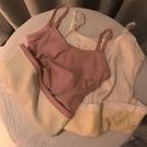 毛衣背心 秋冬款吊帶背心內搭打底衫加絨加厚修身保暖女上衣百搭毛衣針織衫 風尚