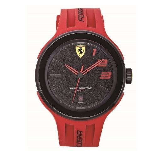 FERRARI Pit Crew速度感時尚腕錶/紅/44mm/0830220