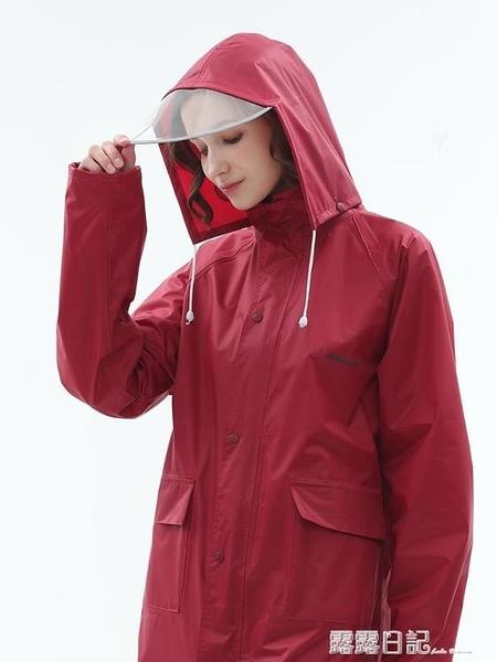 單人長款雨衣全身外套風衣雨披 成人徒步戶外時尚防水雨衣 露露日記