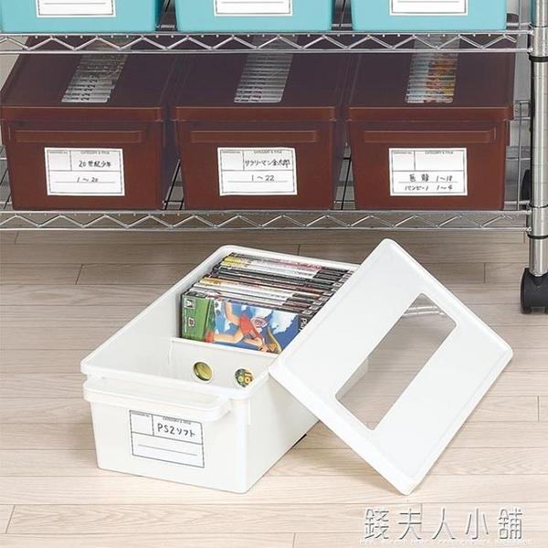 日本進口cd收納盒 家用dvd收納碟片光盤盒漫畫專輯整理 ps4收納箱 錢夫人小鋪