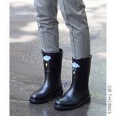 DR春夏中筒雨靴女成人水鞋時尚防水鞋果凍膠鞋套鞋防滑水靴雨鞋女『小淇嚴選』