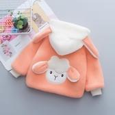 女童冬裝棉服韓版洋氣男寶寶夾棉加厚水貂絨外套兒童棉衣 格蘭小舖