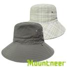 『VENUM旗艦店』【Mountneer】透氣抗UV雙面帽『中灰/卡其』11H18