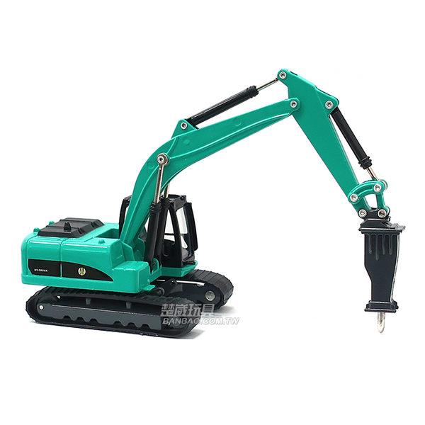 HY TRUCK華一 6012-3 G 破碎機/藍綠 工程合金車模型車 怪手 碎石機(1:60)【楚崴玩具】