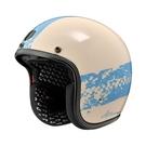【東門城】ASTONE SP3 AT21 彩繪 (象牙白/藍) 復古帽 3/4罩安全帽
