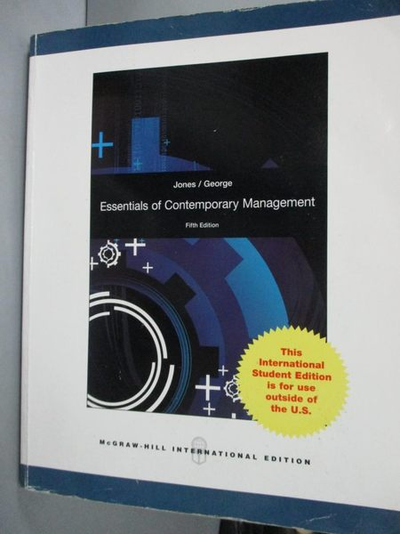 【書寶二手書T8/大學商學_YFC】Essentials of Contemporary Management_Jone