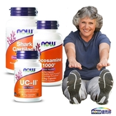 NOW健而婷 關鍵有力套組套組 (UCII二型膠原蛋白+葡萄糖胺+鯊魚軟骨)