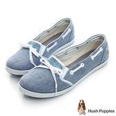 Hush Puppies 托斯卡尼咖啡紗甜心娃娃鞋-藍色