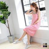 OB嚴選《DA3626-》素色雙肩帶多口袋寬襬吊帶長裙.6色--適 S~XL