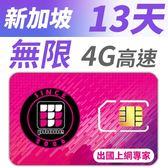 【TPHONE上網專家】新加坡 無限4G高速上網卡 13天 不降速