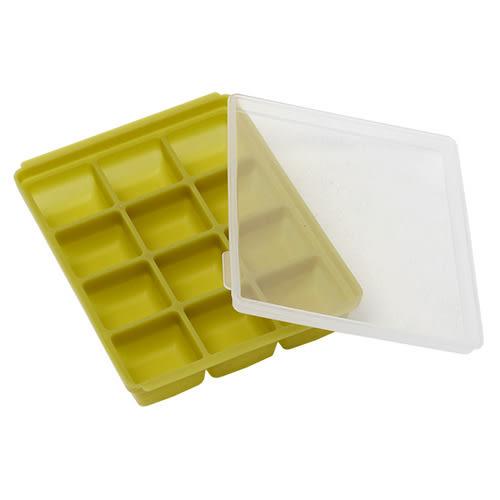 【三入特價$799】Mathos Loreley萱之愛 - 矽膠副食品分裝盒 25g/12格 橄欖綠