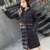 羽絨棉外套 中長款-時尚修身顯瘦保暖女夾克2色73it152[時尚巴黎]