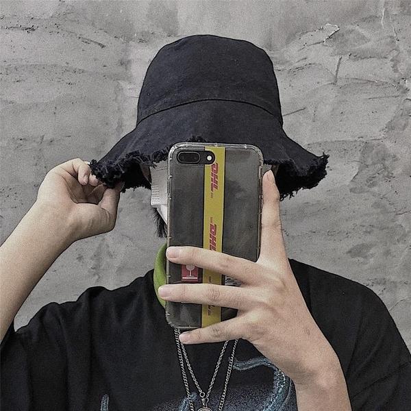 New Boy古著定制 19ss韓國日系毛邊漁夫帽簡約休閒遮陽帽 男女款 夏季特惠
