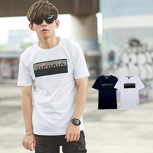 T恤 HEROIC立體雙色絨毛文字短T【NB0530J】