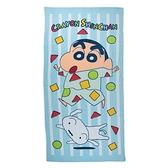 蠟筆小新 睡衣派對浴巾 藍 471321889810