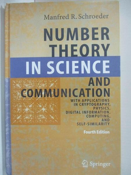 【書寶二手書T1/大學理工醫_D3J】Number Theory in Science And Communication: With…