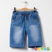 牛仔休閒短褲02靛藍-bossini男童