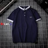 伊人 條紋 POLO衫 短袖 T恤