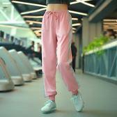 運動褲女長褲寬鬆速干跑步褲子健身收口束腳